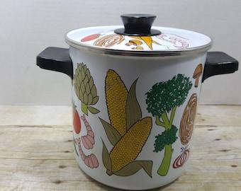 San Ignacio Stock Pot, 1960s read descriptions, vintage pot, lobster