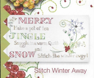"Pattern ""Stitch Winter Away"" by Crabapple Hill Studio (#429) Hand Embroidery Pattern"
