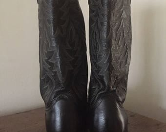 Vintage Dan Post Cowboy Boots ... Free Shipping ... 10% Off Coupon SAVE10