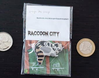 Raccoon City Zombie Raccoon Toronto HARD ENAMEL PIN