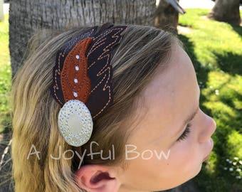 Pocahontas inspired headband, feather headband, boho, princess inspired headbands, pocahontas dress up, Native American feather headband