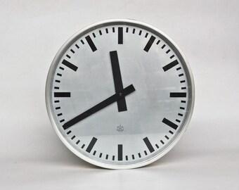 XL Vintage Industrial Factory Wall Clock /  Station  Clock /  60's /  Iskra Yugoslavia