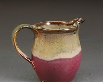 Pottery Pitcher Handmade Cranberry Red and Brown Stoneware by Mark Hudak