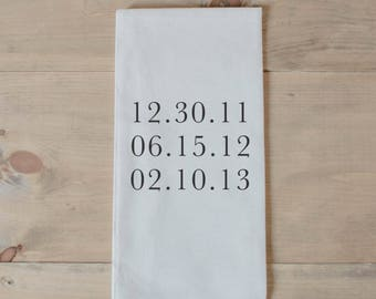 Personalized Tea Towel - Special Dates