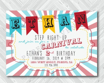 Circus Birthday Invitation - Digital