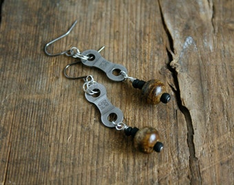 Bike Chain Earrings Bicycle Chain Earrings Bike Jewelry Cycling Earrings Dangle Earrings Mountain Bike Chain Earrings Cyclist Jewelry