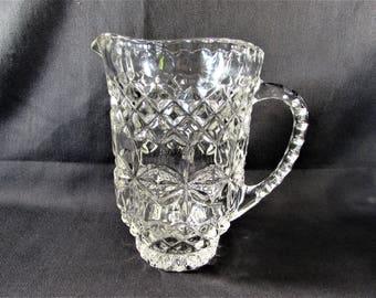 Crystal Pitcher Diamond Flower Design Heavy