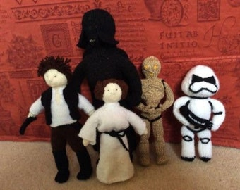 Hand Knitted Star Wars Characters