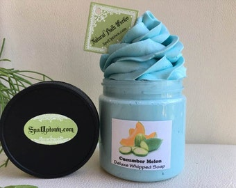 CUCUMBER MELON -Spa - Luxurious Whipped Soap In A Jar-Handmade By Spa Uptown,Vegan