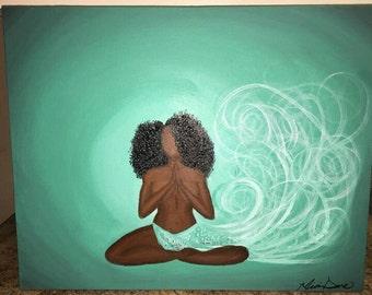 NamaSLAY, african american, woman,yoga art