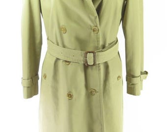 Vintage 80s Baracuta Four Climes Trench Coat Womens 8 England Made Overcoat [H68Z_2-7_Long]