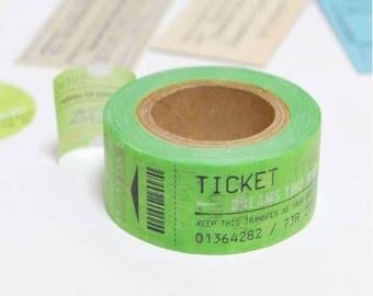 Green Tickets Washi Tape - Kamito