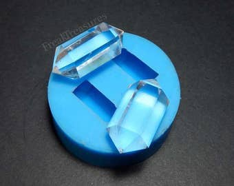 Rubber silicone crystal quartz mold for resin casting. CM18