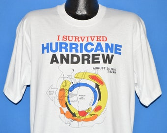 90s I Survived Hurricane Andrew t-shirt Extra Large
