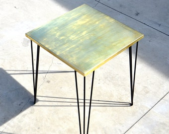 Cafe Table With Brass Top