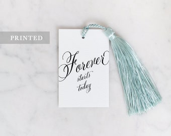 Wedding Favour Tags - Forever starts today - Gift Tag