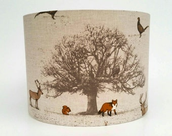 Woodland Animal Fabric Lampshade