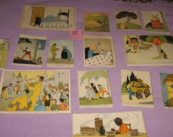 Book Pages, The Real Story Book, Story book, Margaret Evans Price, empherma, Framing, Fairyland, 15 pieces, Vintage  (Set 3)