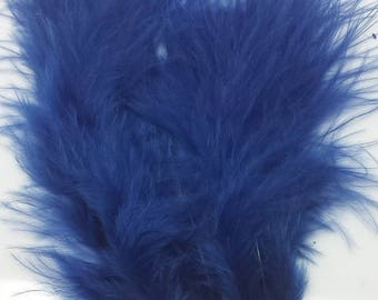 50 4inch Turkey Feathers Dark Blue used in Native American Craft