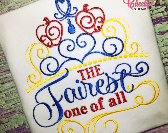 Fairest of them All Embroidered Shirt - Snow White - Disney Vacation - Disney Birthday - Disney Princess