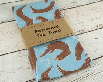 Ottering About Patterned Tea Towel