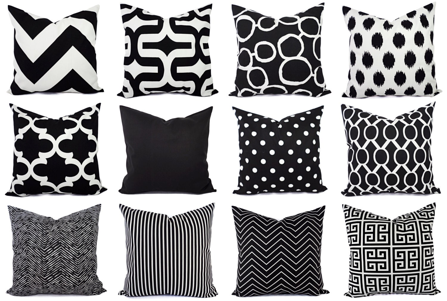 black and white pillow cover modern black throw pillow cover. Black Bedroom Furniture Sets. Home Design Ideas