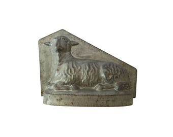 Antique French Lamb Sheep Metal Kitchen Chocolate Candy Cake Mold