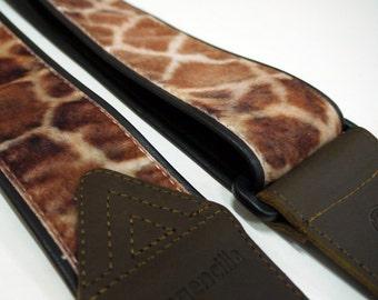 """Imagencilla Giraffe Guitar Strap Full Color Printing Belt width 2-1/4"""" 57mm"""