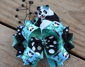 Panda Hair Bow + Christmas bow for Laurie