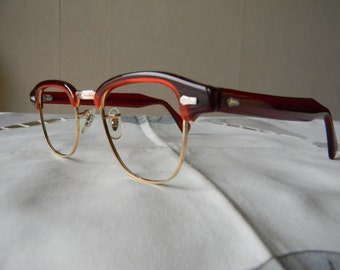 True Vintage Rare 1 10 12K GF Eyeglass Frame by SRO Styl-Rite Optical size 46-24 - NOS.Made in U S A.Exc***** 50's