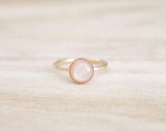 Blush moonstone shimmer stacking ring, blush ring, blush stone, blush gemstone, blush moonstone, moonstone ring, blush rings, boho jewelry