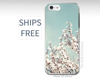 Pretty iPhone 7 case, Spring iPhone SE case, Flower iPhone 5 case, iPhone 6 Plus // Flower Blossom blue sky Photography-Slim iPhone cases