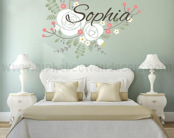 Name Wall Decal - Nursery Wall Decal - Children's Wall Decal - Monogram Wall Decal - Girls Room Wall Decal - Vinyl Wall Decal -Nursery Decal