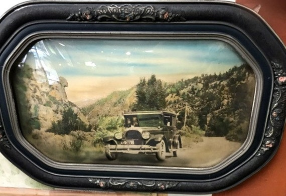Model T Print Reverse photographic print on glass with frame