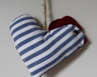 Hanging Heart-Shaped Chicken Ornament.