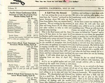 1940s Seventh Day Adventist Ephemera