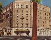 Vintage San Jose California postcard Hotel Sainte Claire unused, about 1950