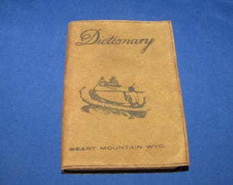 Ideal WEBSTER POCKET DICTIONARY 1943 Heart Mountain Wyoming