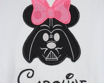 Darth Vader Mrs. Mouse Shirt for Infant, Toddler, Youth, and Adult