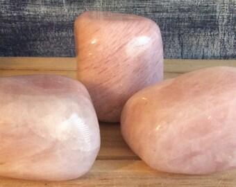 Rose Quartz Love Stone,  Power Stone, Palm Stone,Healing Stone, Healing Crystal, Chakra  Stone, Spiritual Stone