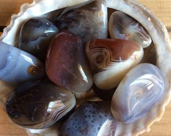 Botswana Gray Agate Healing Stone, Protective Stone, Harmonizing Stone