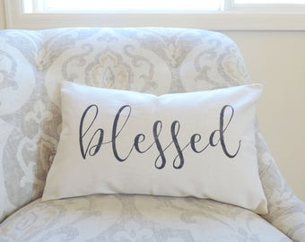 Blessed Pillow Cover - Blessed Pillow - Home Decor Pillow - Home Pillow - House Decor - Living Room Decor - Throw Pillow