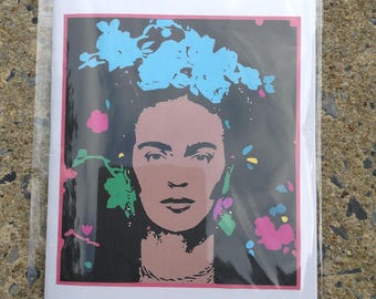 Frida Kahlo - Frida Kahlo Stationery - Frida Kahlo Notebook - Back to School - 20 pages - Lined Pages - Blank Pages - Frida Kahlo Sticker