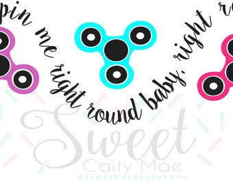 Hand Spinner / Cut File / Cameo Projects / Cricut Projects / Silhouette Projects / SVG / T-Shirt design / Back to School