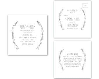 Printable Wedding Invitation | Customized Wedding Invitation | Wedding Invitation Set | Backyard Wedding Suite