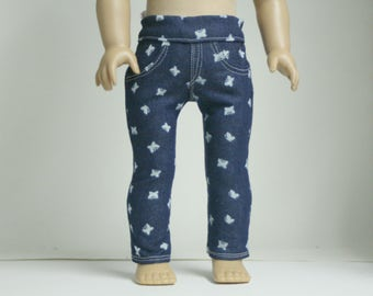 "18 inch Doll Skinny Jeans, Skinny Jeans Fit American Girl Doll, Doll Skinny Jeans,  Denim Doll Jeans, Girl Doll Jeans, 18"" Doll Jeans"