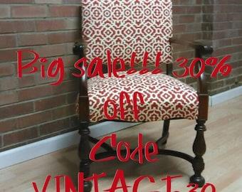 Vintage Arm chair, Restructured antique Arm Chair, office chair, living room chair, antique chair,Upcycled Antique Chair