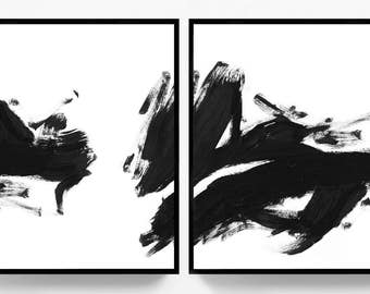 Abstract wall art etsy for Cheap black and white prints