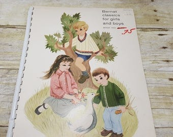 Bernat Classic for Boys and Girls book 103, 1962, vintage knitting book