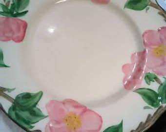 "Franciscan Desert Rose. From England. Bread/Butter plate. 7 1/2"" across."